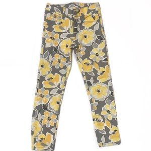🧚♀️4/$25 Girl Sunshine Floral Twill Pant Size 6